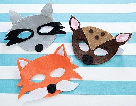 Kids Felt Cuties masks