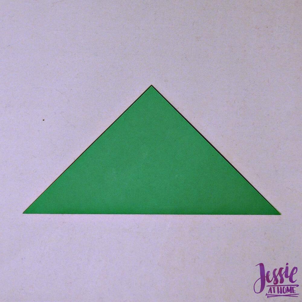 Origami Cicada Step 1