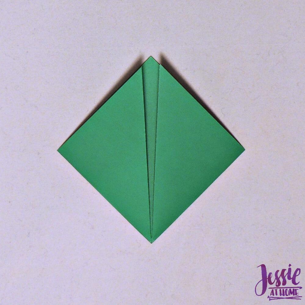 Origami Cicada Step 2