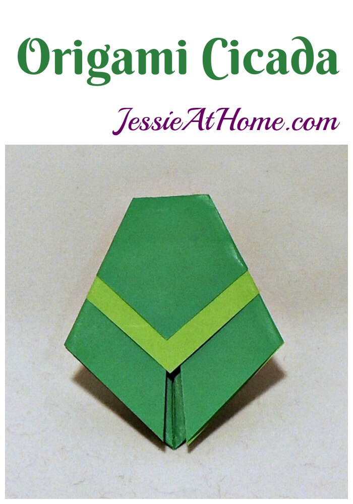 Origami Cicada from Jessie At Home