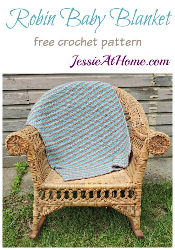 Robin Baby Blanket - free crochet pattern by Jessie At Home