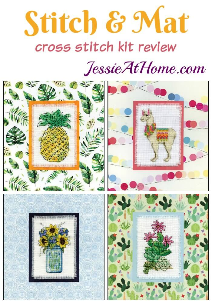 Stitch & Mat cross stitch kit review from Jessie At Home
