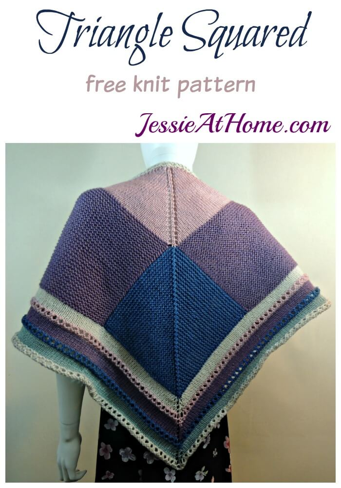 Triangle Squared - free knit pattern by Jessie At Home