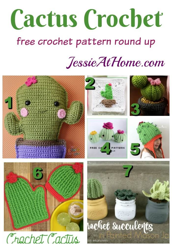 Cactus Crochet free crochet pattern round up by Jessie At Home