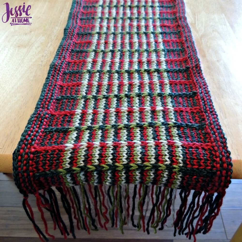 Christmas Slip Stitch Table Runner | Jessie At Home
