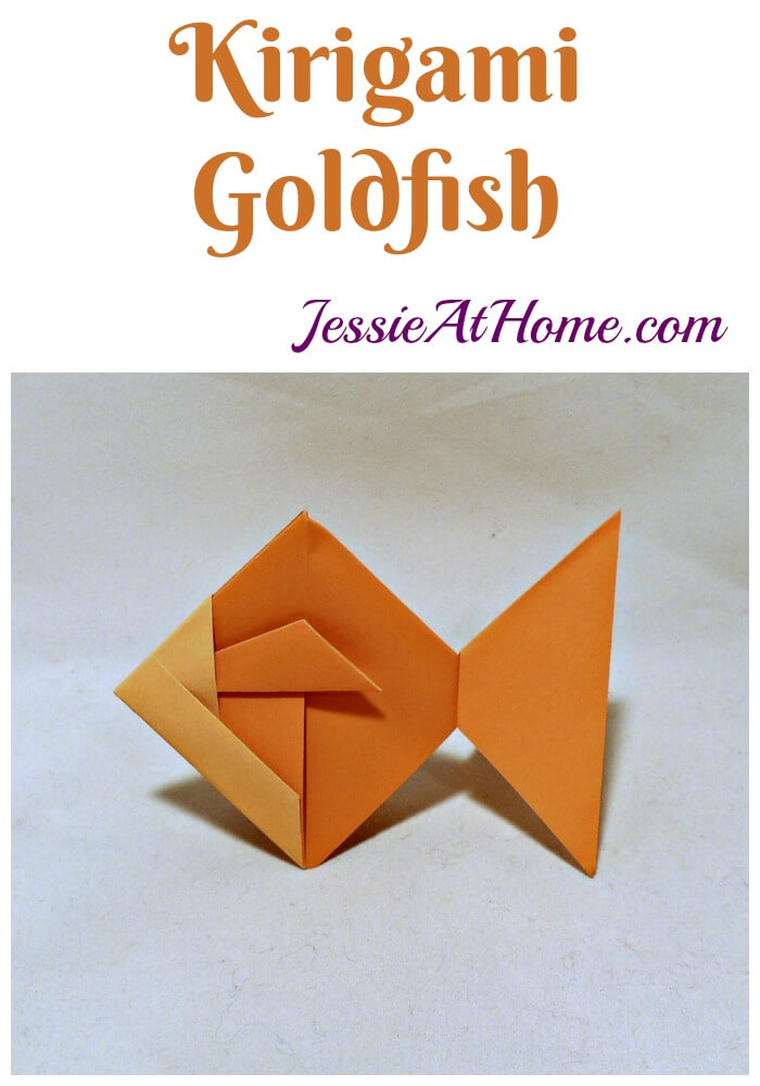 Kirigami Goldfish from Jessie At Home