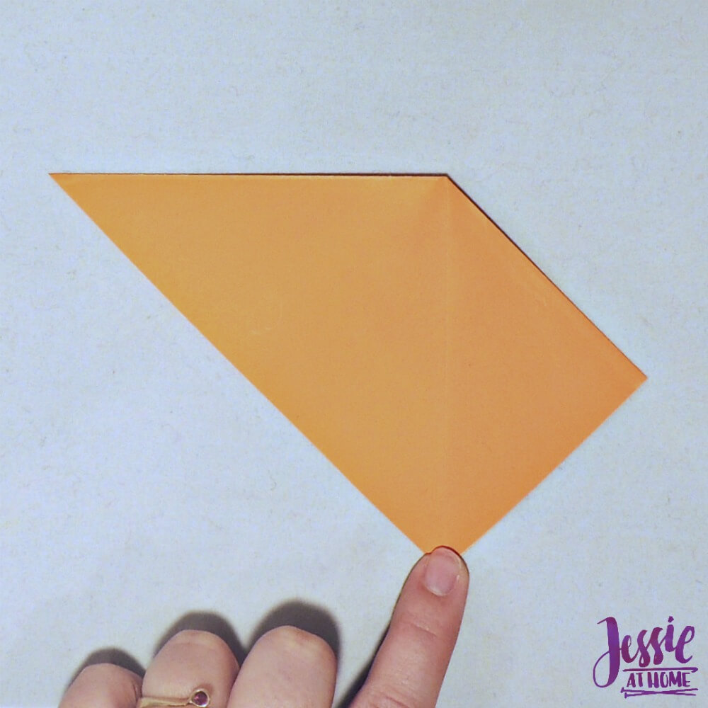 Kirigami Goldfish step 2