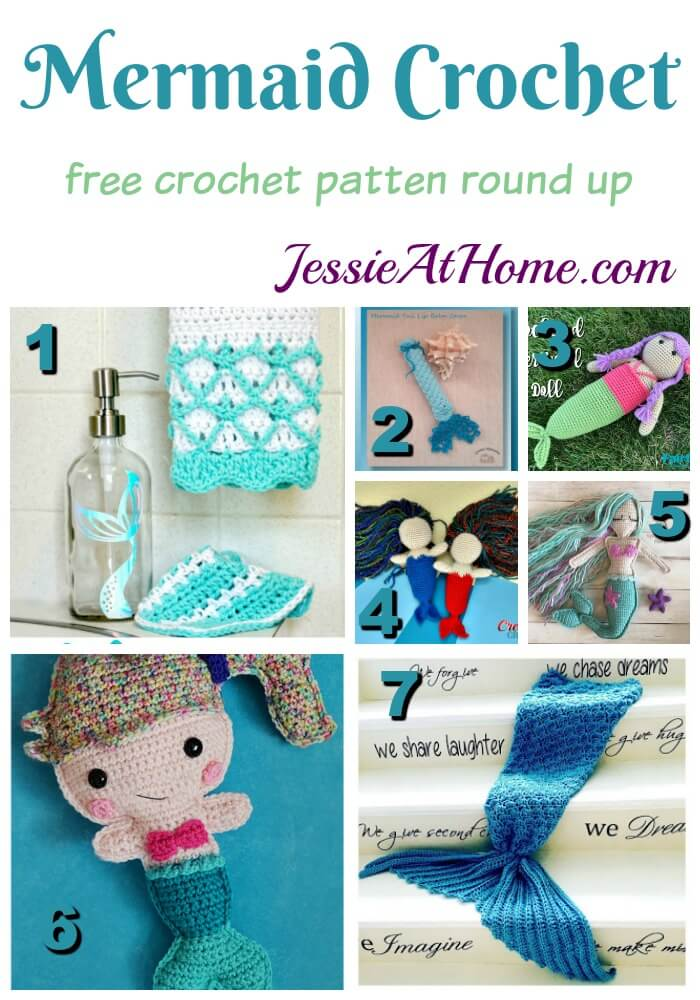 Mermaid Crochet free crochet pattern round up from Jessie At Home