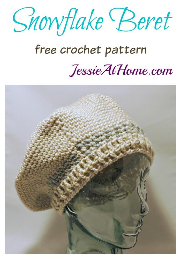 Snowflake Beret free crochet pattern by Jessie At Home