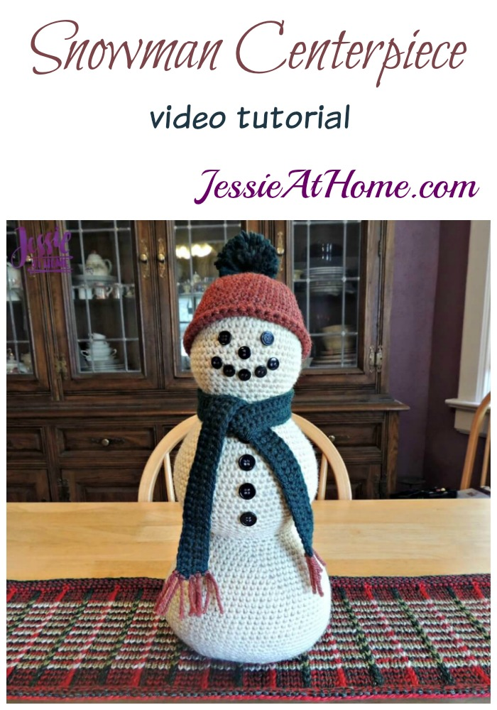 Snowman Centerpiece Video Tutorial by Jessie At Home