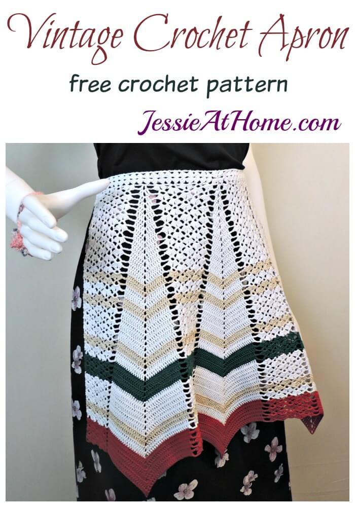 Vintage Crochet Apron - free crochet pattern by Jessie At Home