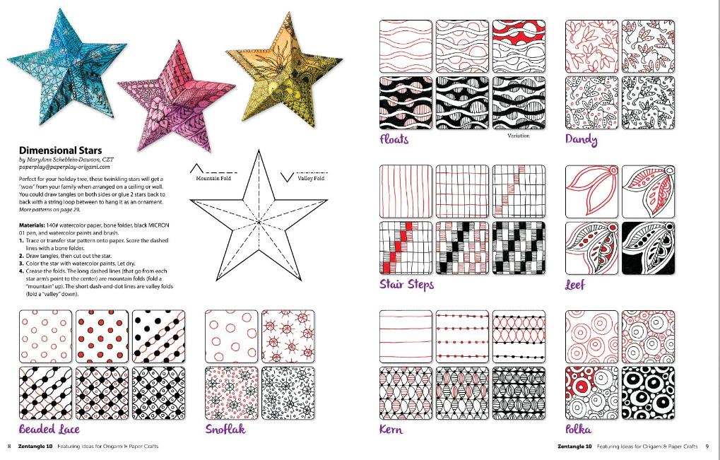 Zentangle 10 Stars