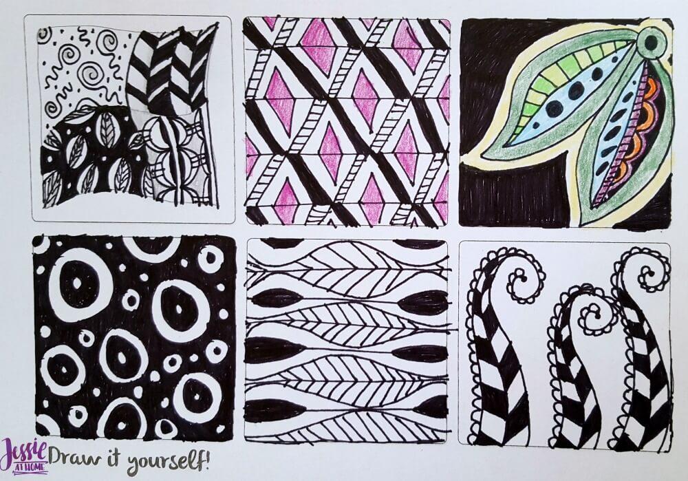 Zentangle 10 practice