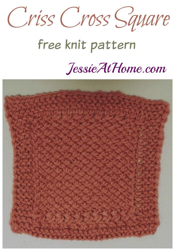 Criss Cross Square - free knit pattern by Jessie At Home