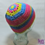 Flower Head Hat - free crochet pattern by Jessie At Home - 1