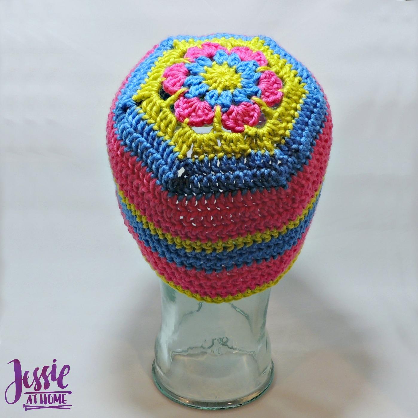 Flower Head Hat - free crochet pattern by Jessie At Home - 3
