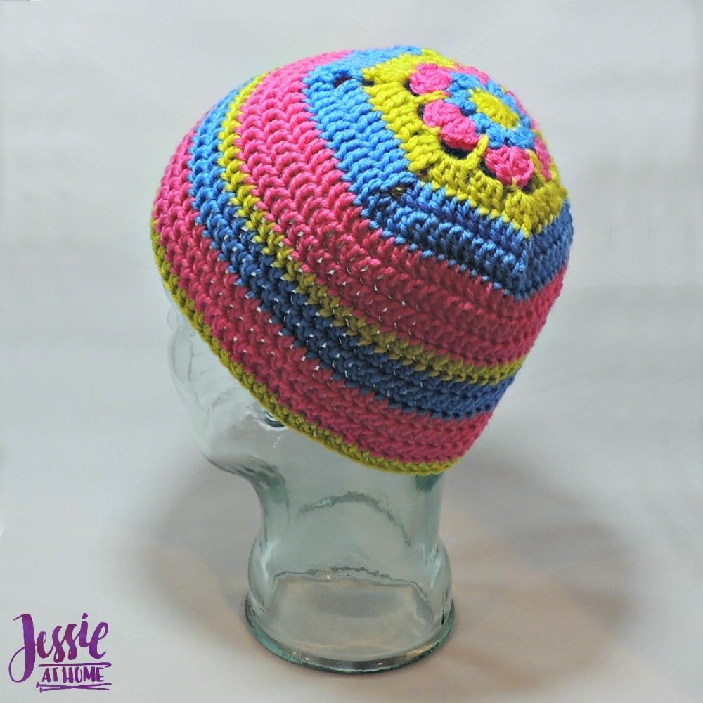 Flower Head Hat - free crochet pattern by Jessie At Home - 4