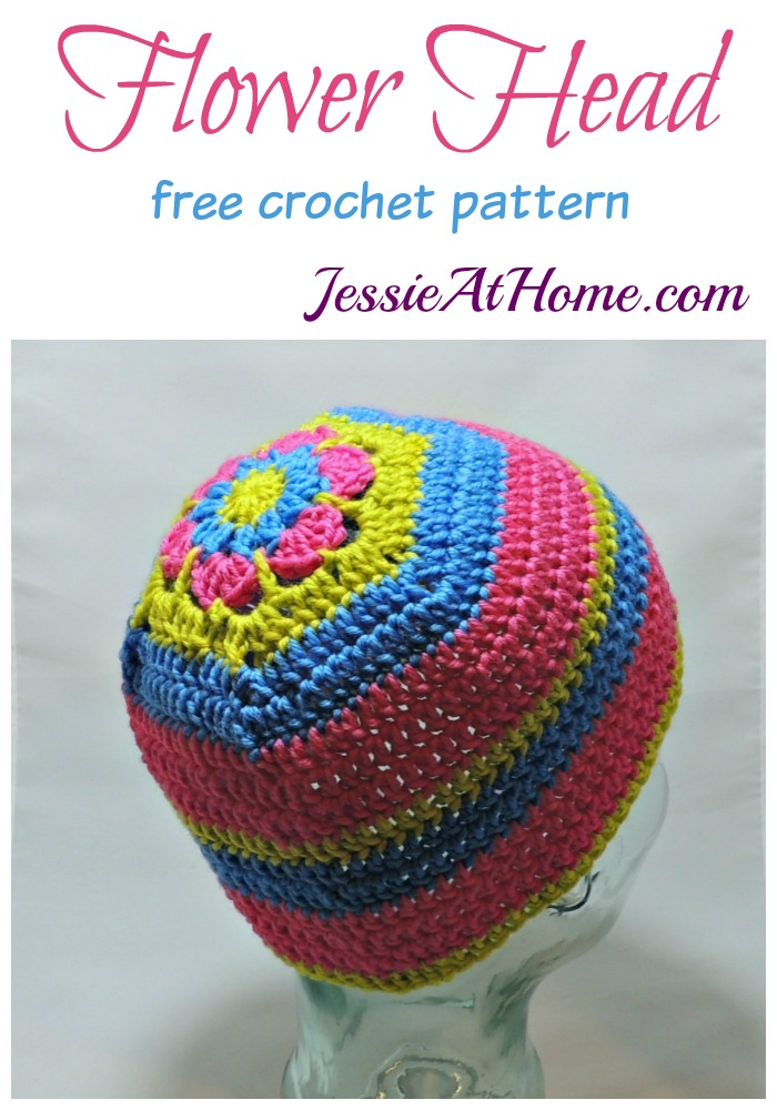 Flower Head Hat - free crochet pattern by Jessie At Home