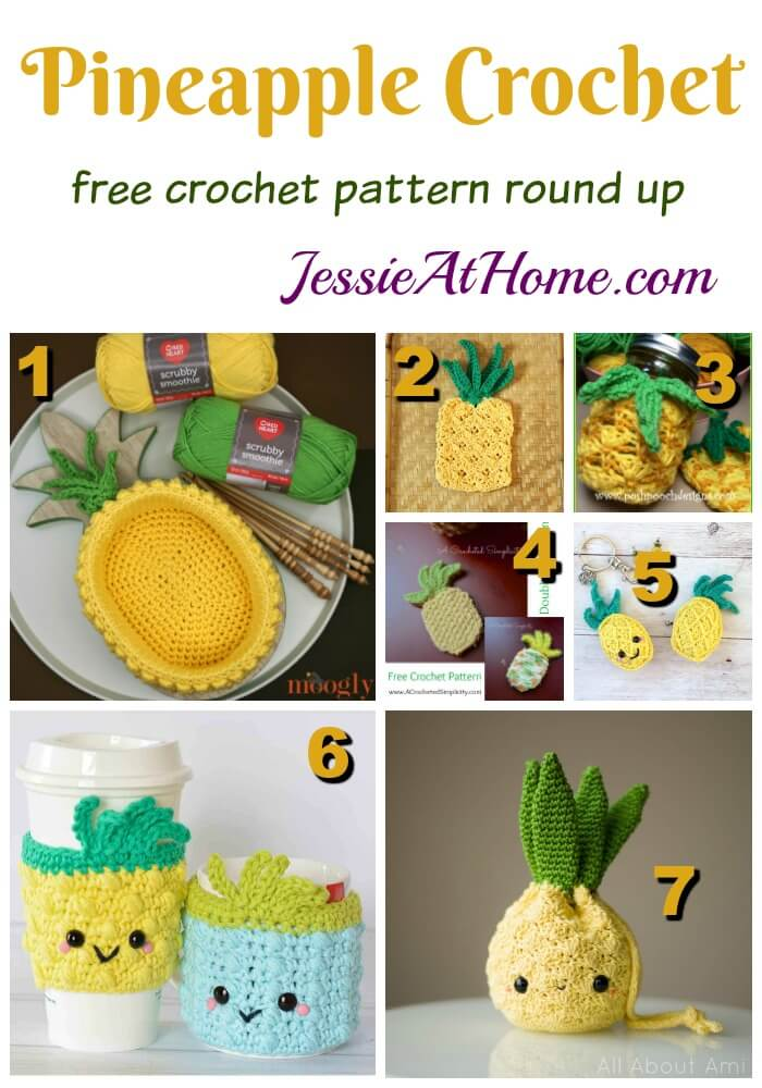 Pineapple Crochet free crochet pattern round up from Jessie At Home