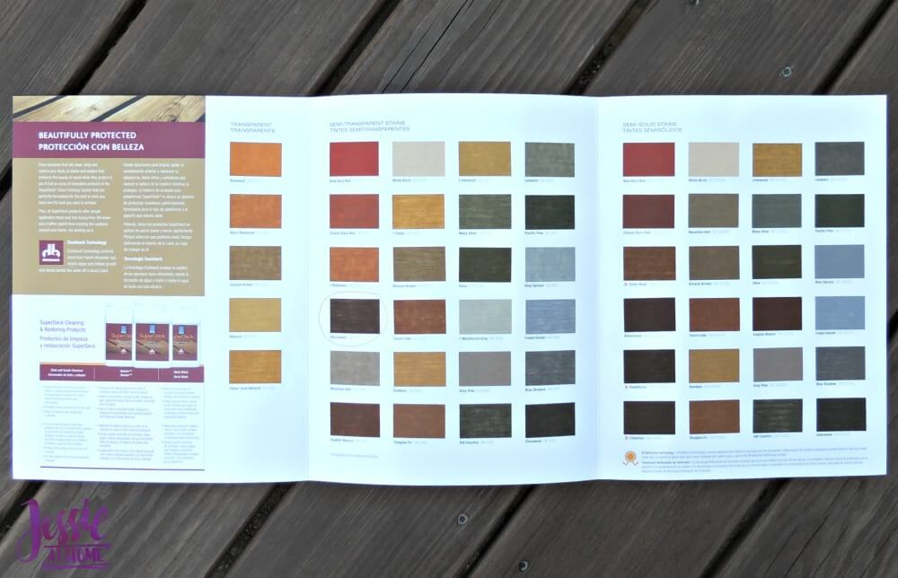 Staining the Deck - Look at all the colors!