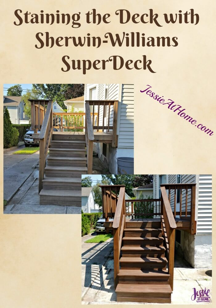 Staining the Deck with Sherwin-William SuperDeck