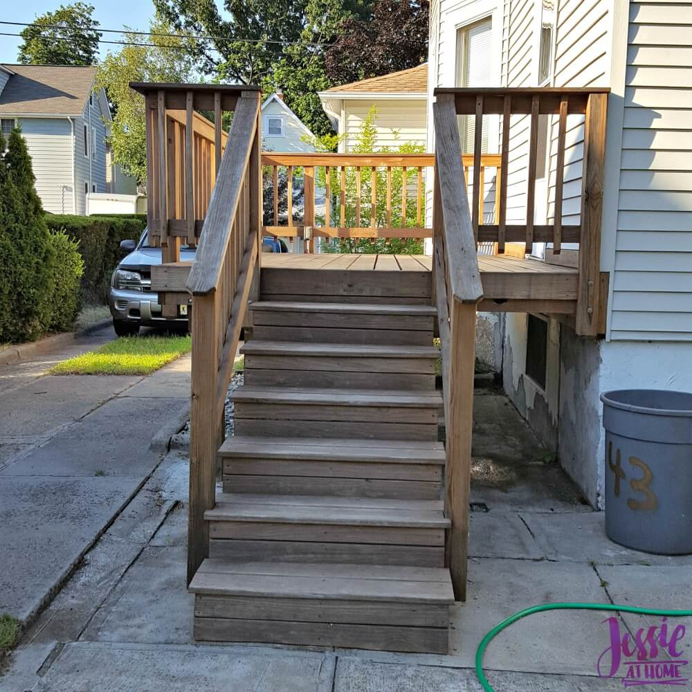 Staining the deck - ready to stain