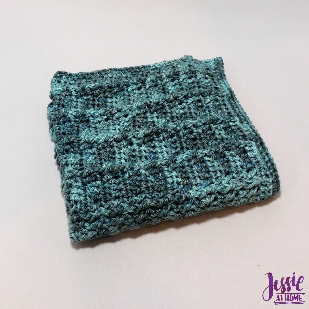 Strand of Diamonds Washcloth free crochet pattern by Jessie At Home - 2
