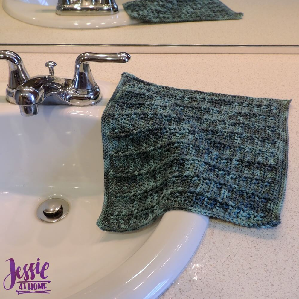 Strand of Diamonds Washcloth free crochet pattern by Jessie At Home - 3