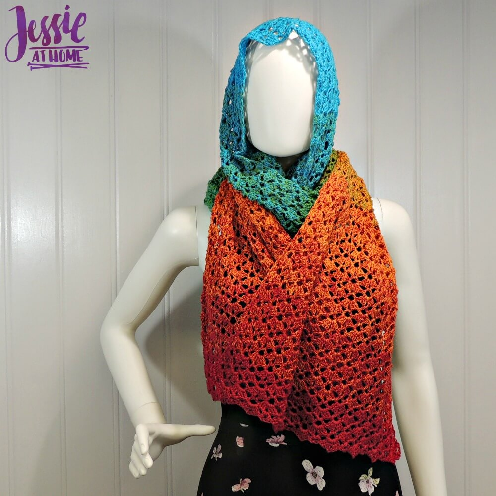 Vintage Shells Wrap free crochet pattern by Jessie At Home - 4
