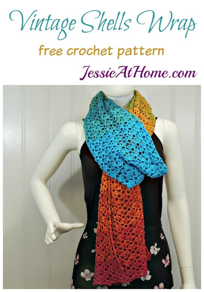 Vintage Shells Wrap free crochet pattern by Jessie At Home
