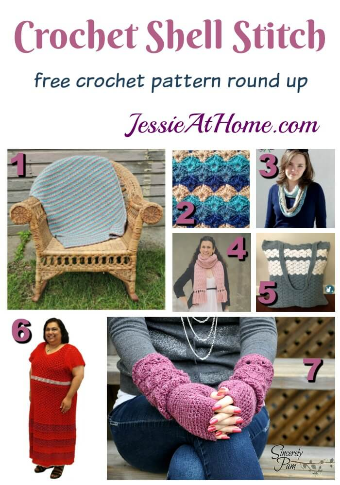 Crochet Shell stitch free crochet pattern round up from Jessie At Home