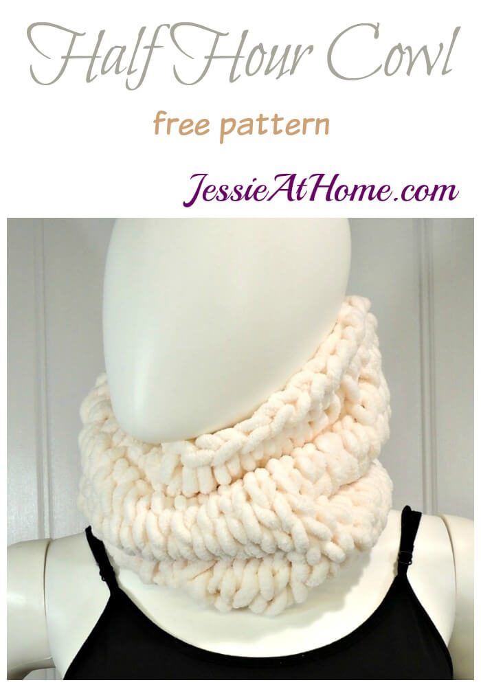 Half Hour Cowl free pattern by Jessie At Home