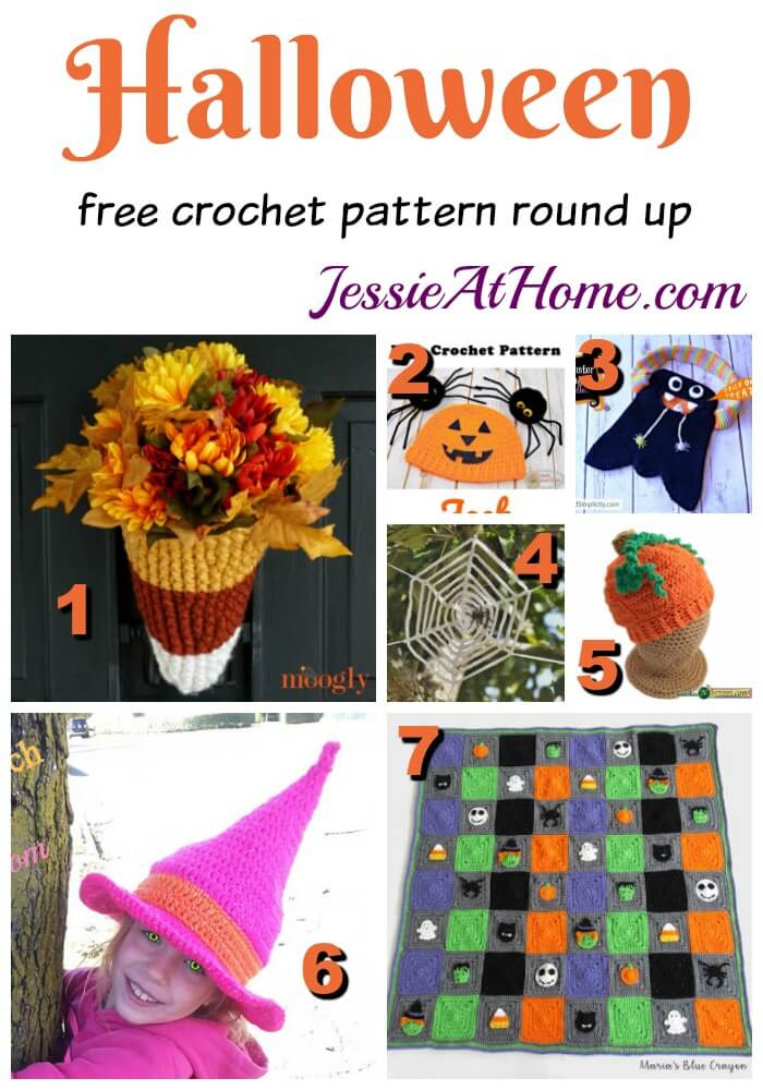 Halloween free crochet pattern round up from Jessie At Home