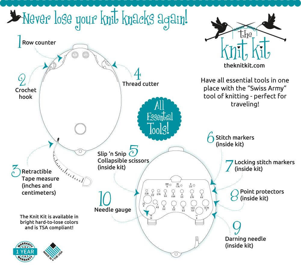 Knit Kit Features