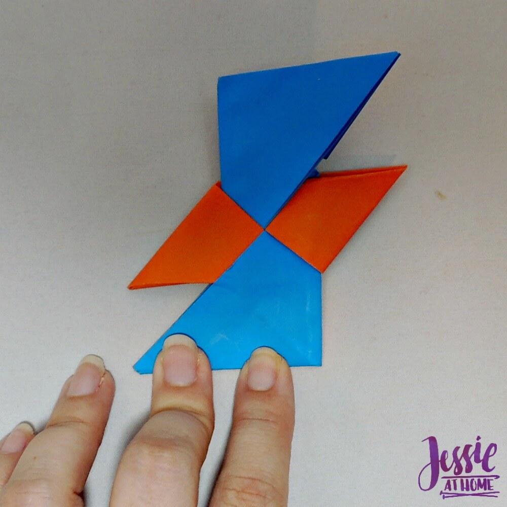 Origami Ninja Star Step 12