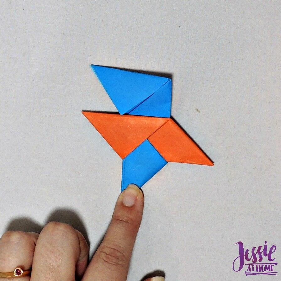 Origami Ninja Star Step 14