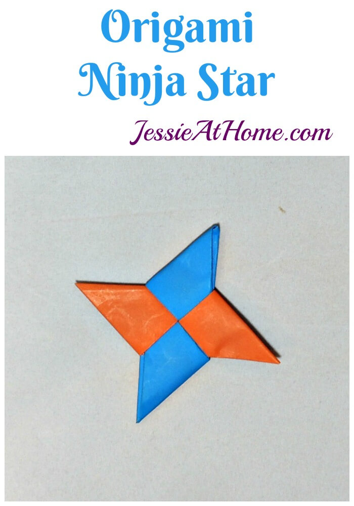 Origami Ninja Star from Jessie At Home