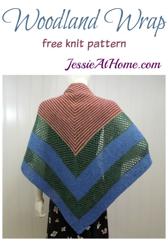 Woodland Wrap - free knit pattern by Jessie At Home