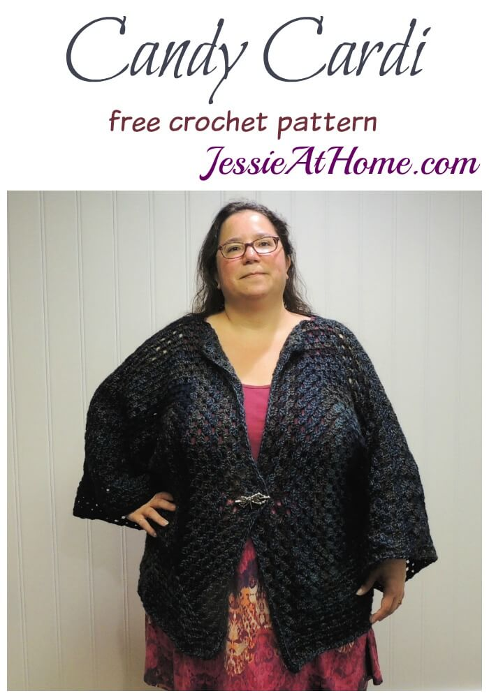 Candy Cardi free crochet pattern by Jessie At Home