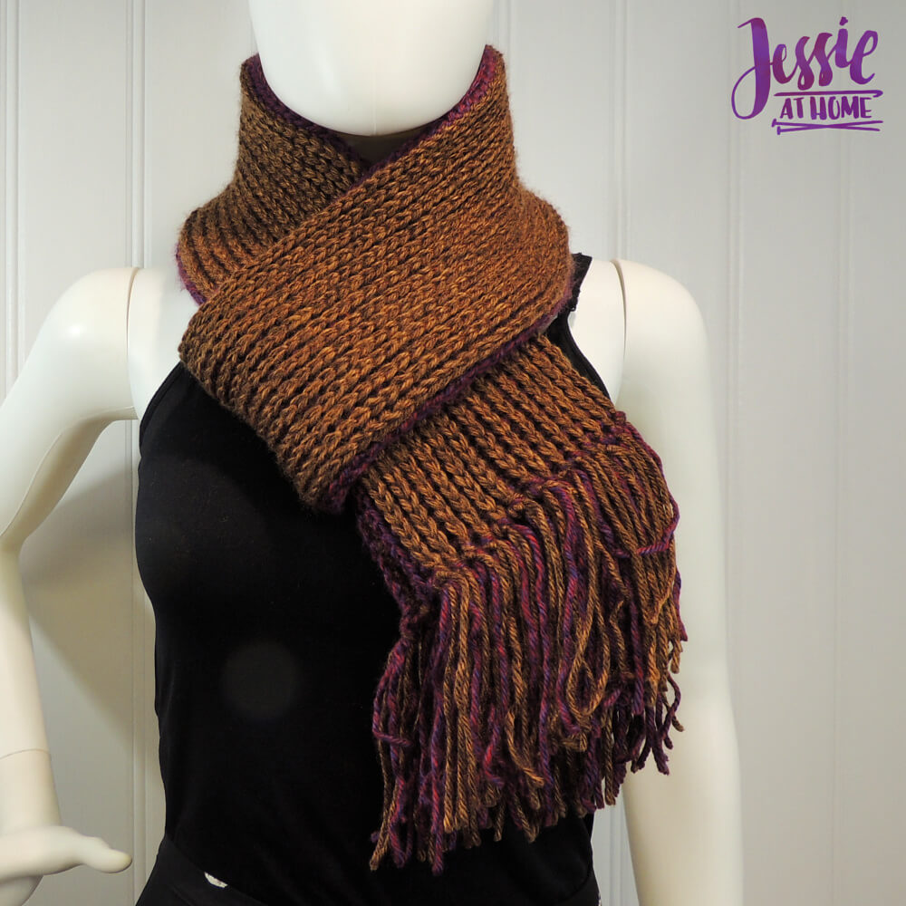 Faux Brioche Scarf free crochet pattern by Jessie At Home - 2
