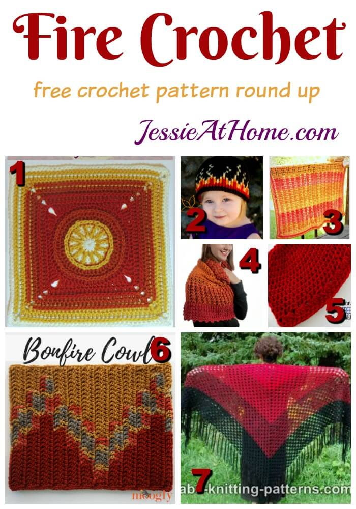 Fire Crochet free crochet pattern round up from Jessie At Home