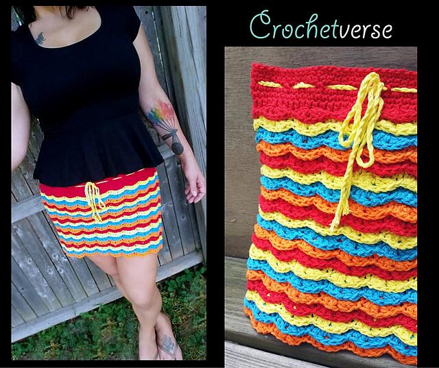 Fireworks Skirt - Interview with Stephanie Pokorny of Crochetverse
