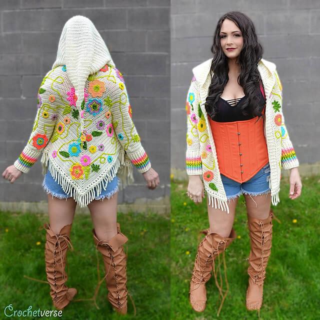 Magic Carpet Ride Sweater - Interview with Stephanie Pokorny of Crochetverse