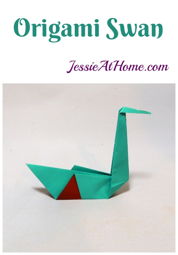 Origami Swan from Jessie At Home