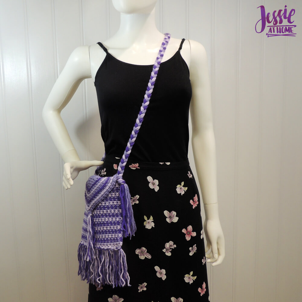 Purple Passion Purse free crochet pattern by Jessie At Home - 4