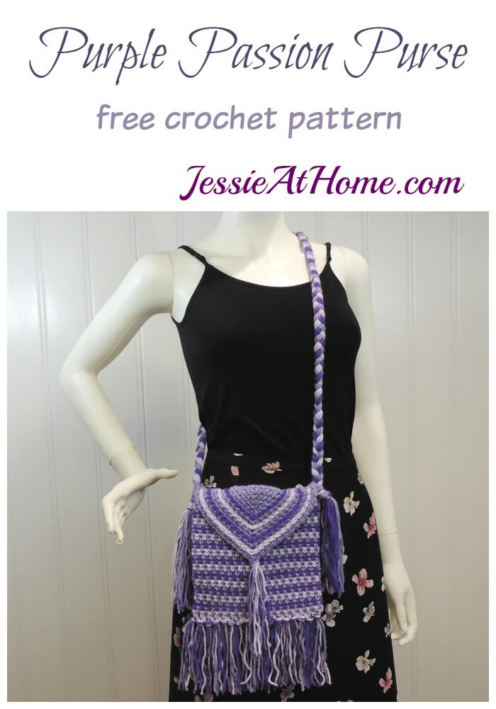 Purple Passion Purse free crochet pattern by Jessie At Home