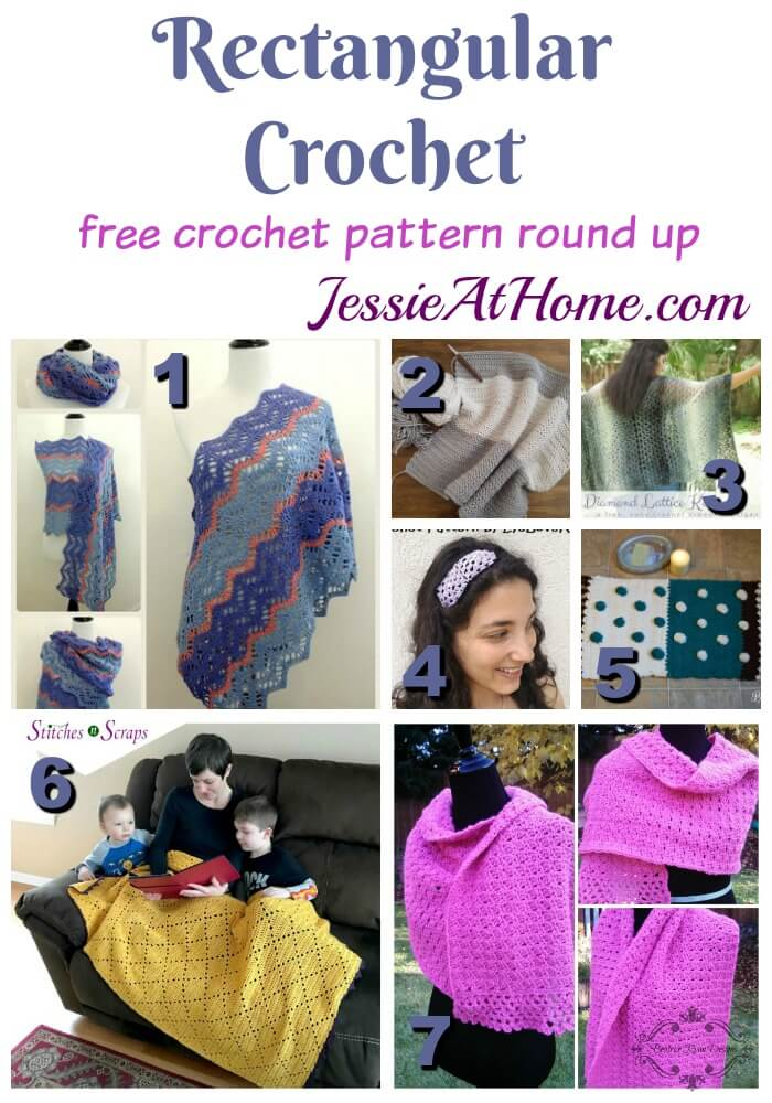 Rectangular Crochet free crochet pattern round up from Jessie At Home