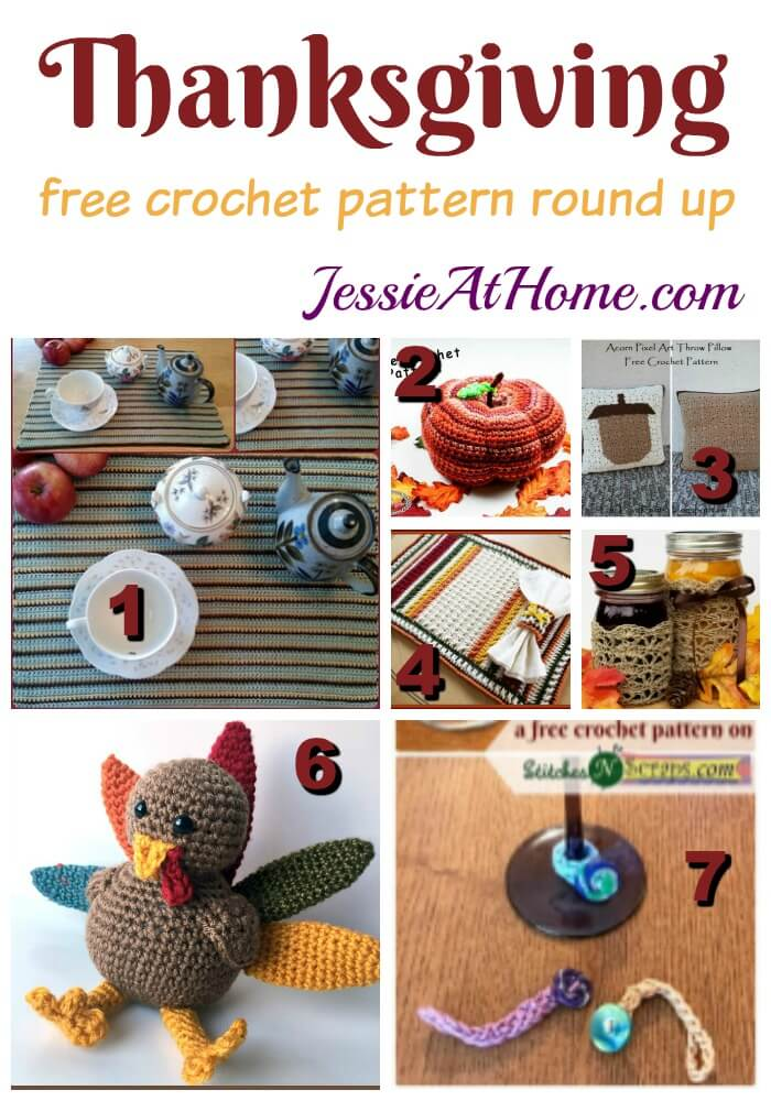 Thanksgiving free crochet pattern round up from Jessie At Home