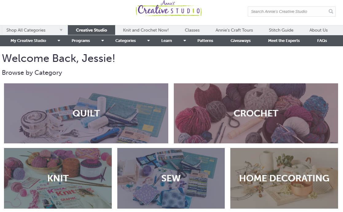 Annie's Creative Studio review from Jessie At Home - front page