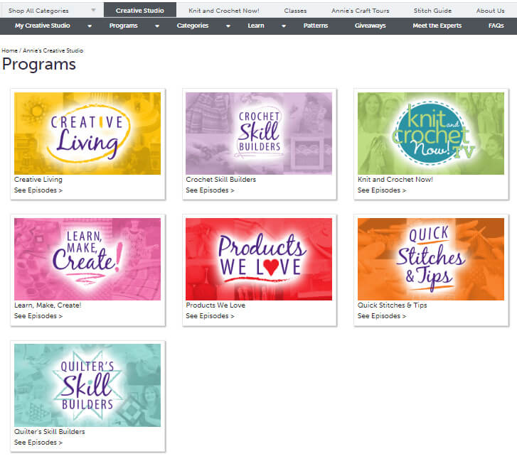 Annie's Creative Studio review from Jessie At Home - programs